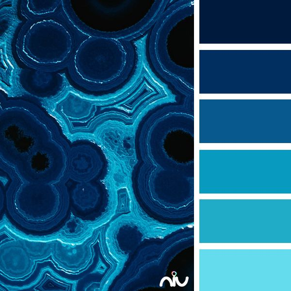 Color Theory Interiordesign: Blue Azurite (pattern & Texture)