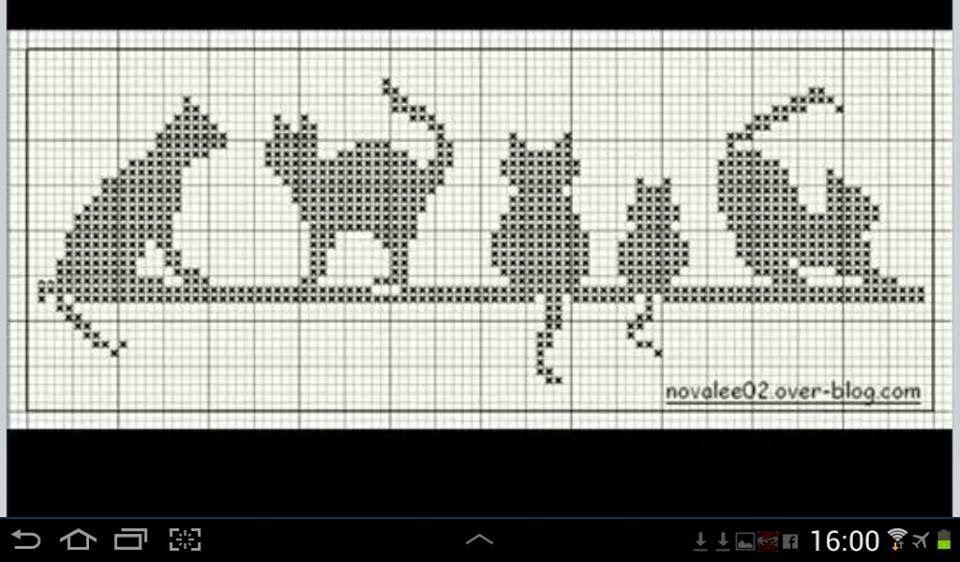 Schema punto croce vari gatti  13d605ec1263