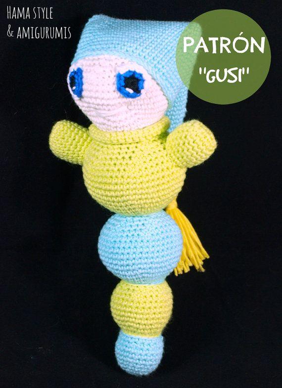 Patrón Gusi gusano dormilón ESPAÑOL Crochet por HamaStyle en Etsy ...
