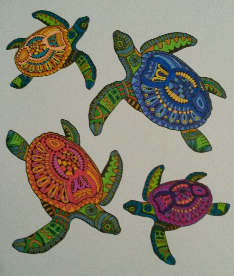 Mindfull Kleuren Schildpadden Kleuren Kleurboek Verfkunst