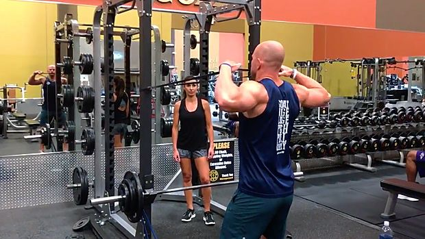 Tip Banded Face Pull And Floor Press Face Pulls Workout Videos Bench Press