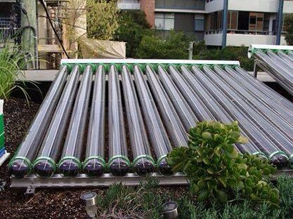 This Solar Evacuated Hot Water System Has Been Placed On The Roof Surrounded By The Roof Top Garden In Forest Lodge Sydney The Lord Mayor Solar Hot Water System