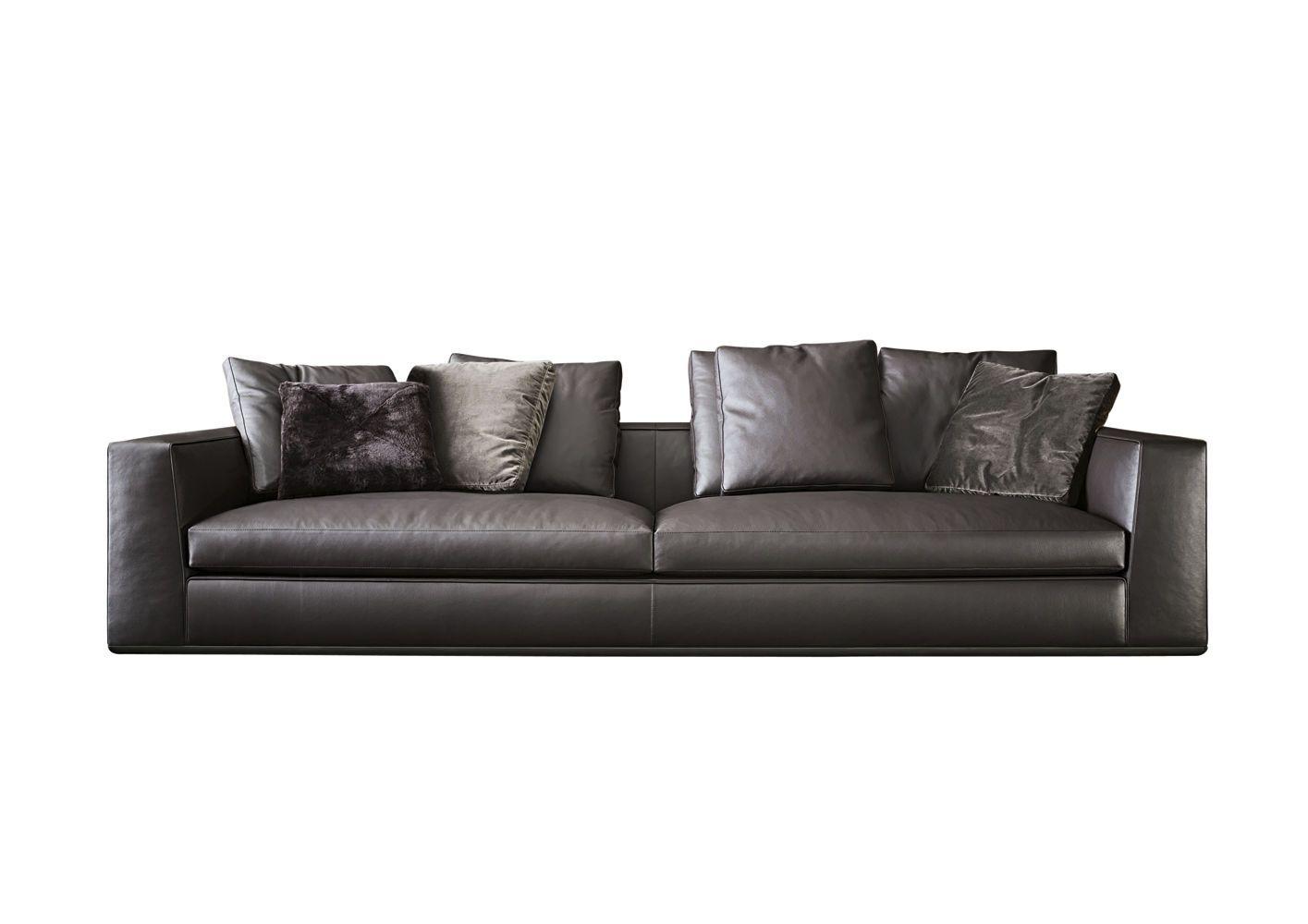 Contemporary Leather Sofa By Rodolfo Dordoni Powell112 Minotti
