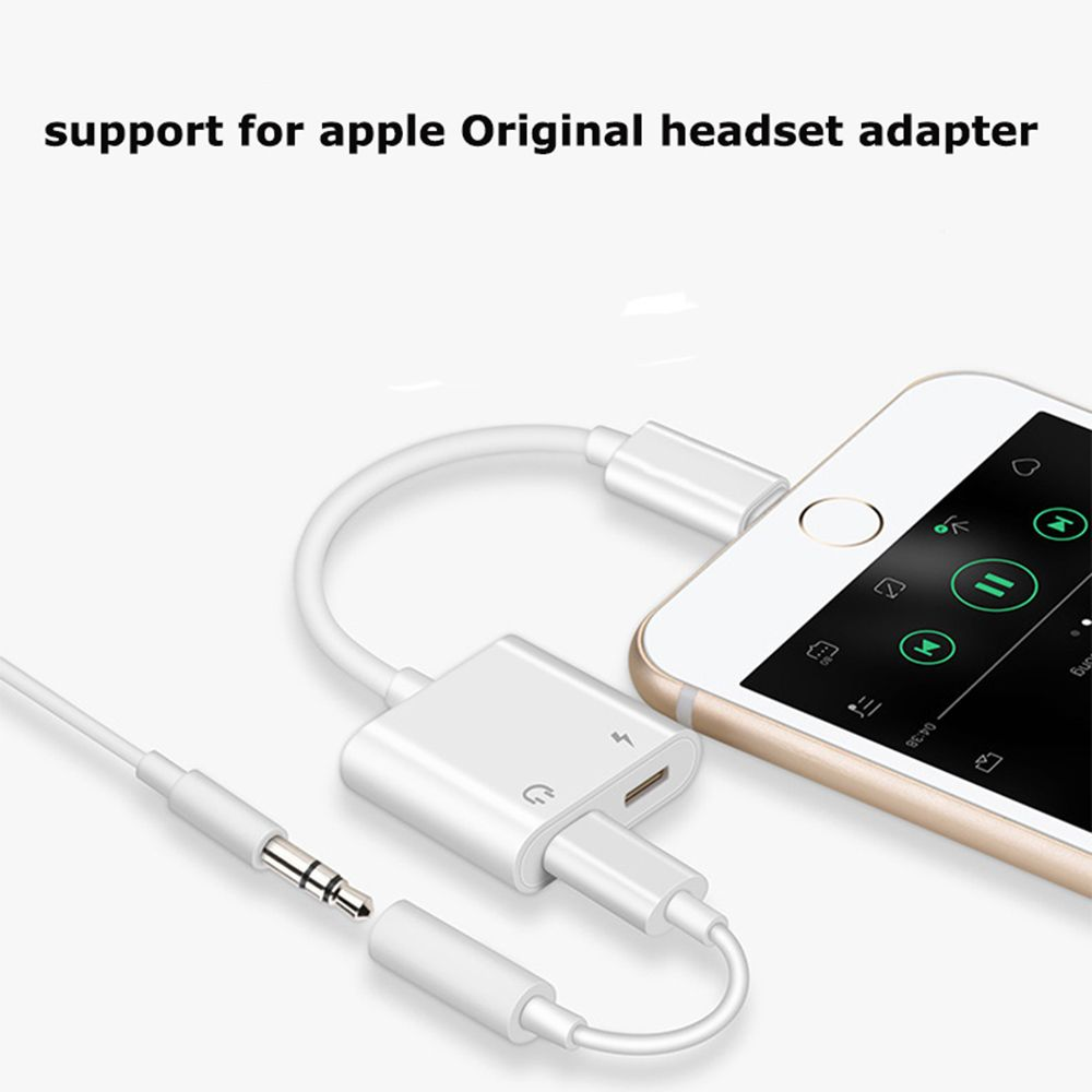Double Jack Audio Adapter For Iphone 7 8 X Support Ios Katakuri Store Jack Audio Audio Adapter Iphone 7