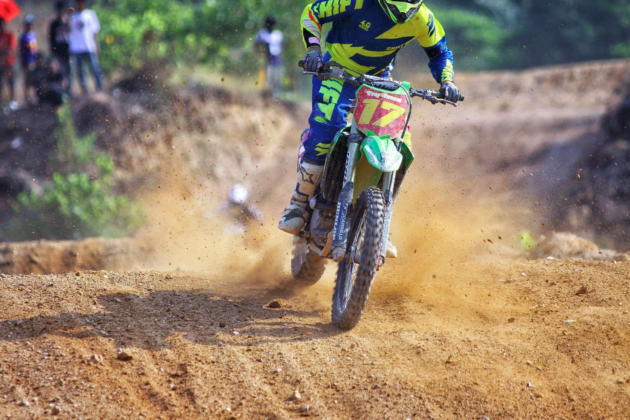 Biker Dirt Bike Dirt Road Man Motocross Motorbike Motorcycle