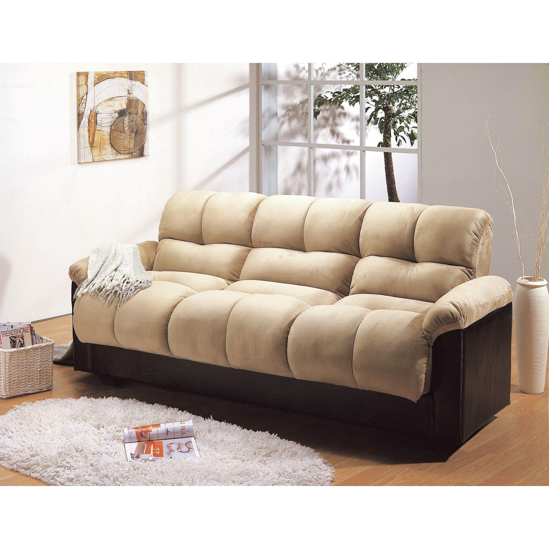 Primo Ara Convertible Futon Sofa Bed With Storage Cyber