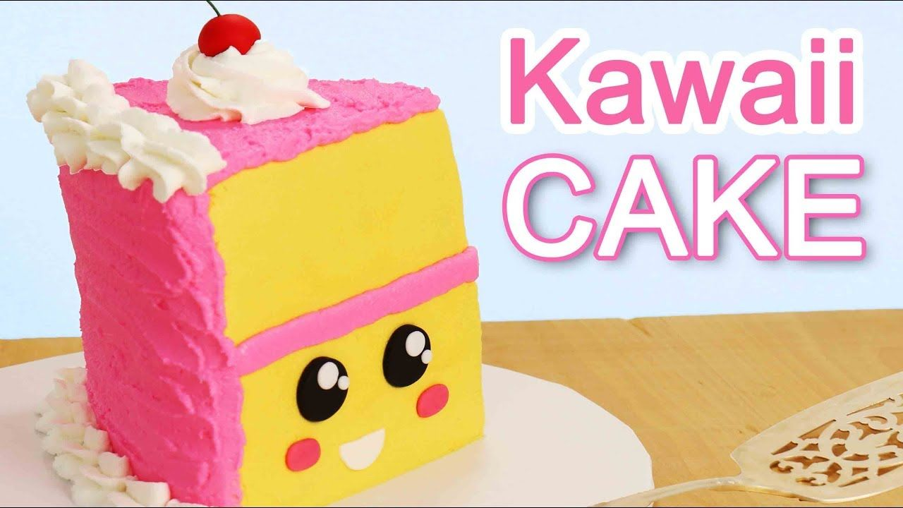 See amazing party ideas today at Party Ideas Daily!  EASIEST KAWAII Slice of CAKE!