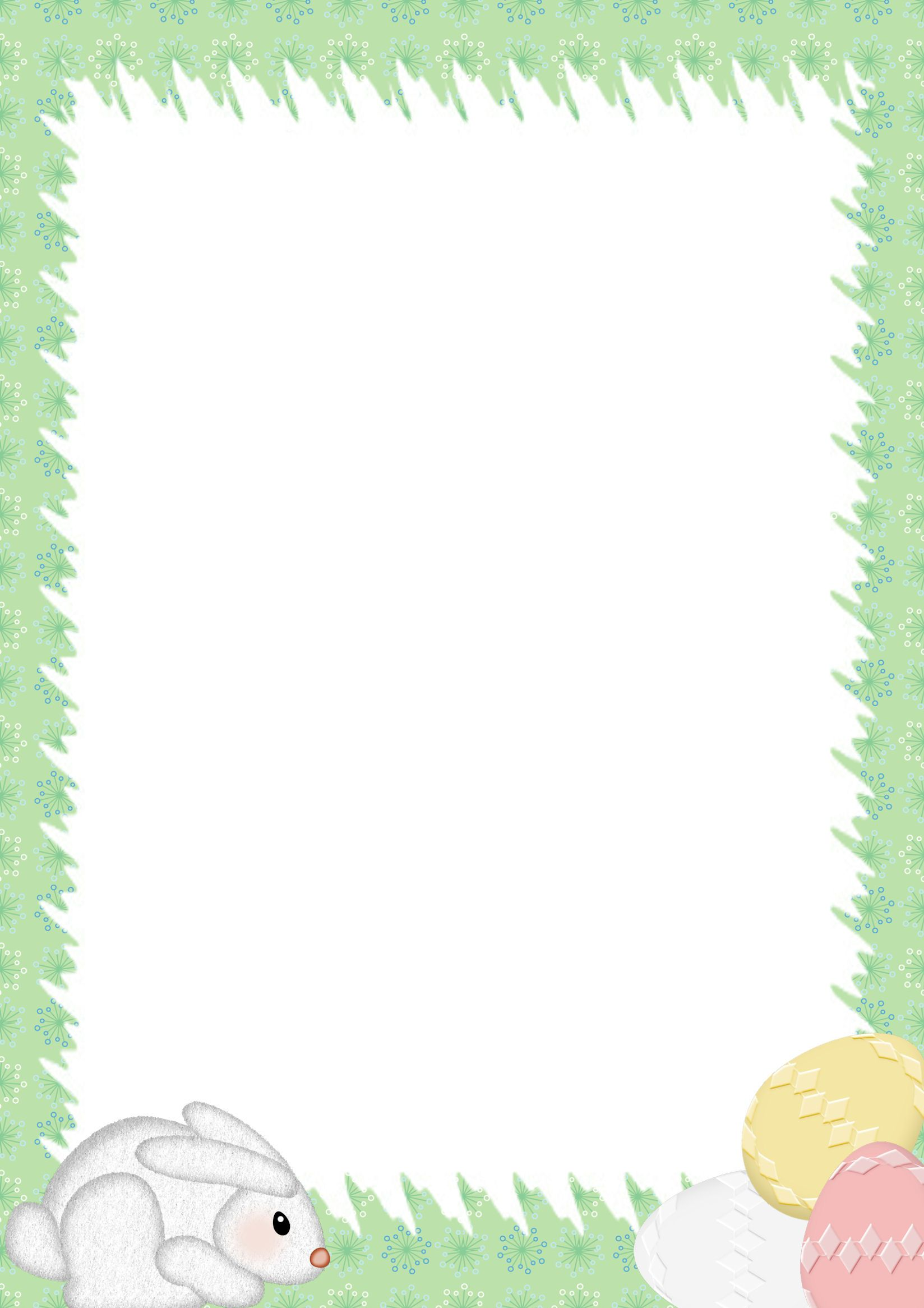 Easter Stationery | Microsoft Word Border Templates  Microsoft Word Page Border Templates
