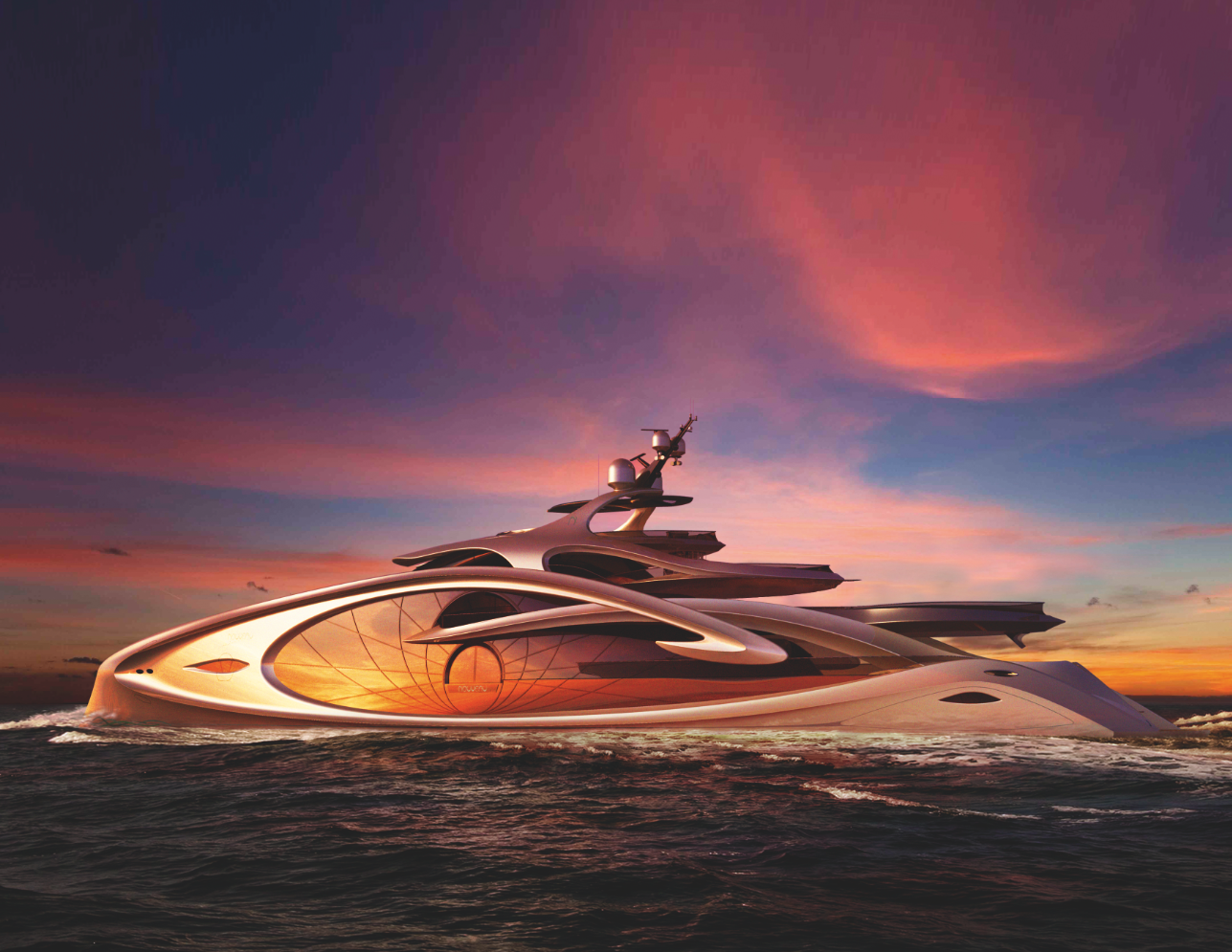 Nouveau Concept   This Pushes The Boundaries Of Yacht Aesthetic To An  Extreme Degree #organic