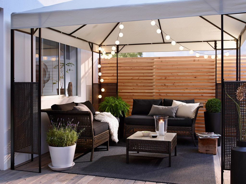 Master Outdoor Entertaining With These Furnishings By Ensuring Enough Shade Seating Lighting And More Says Check Out Her Ikeausa Picks To