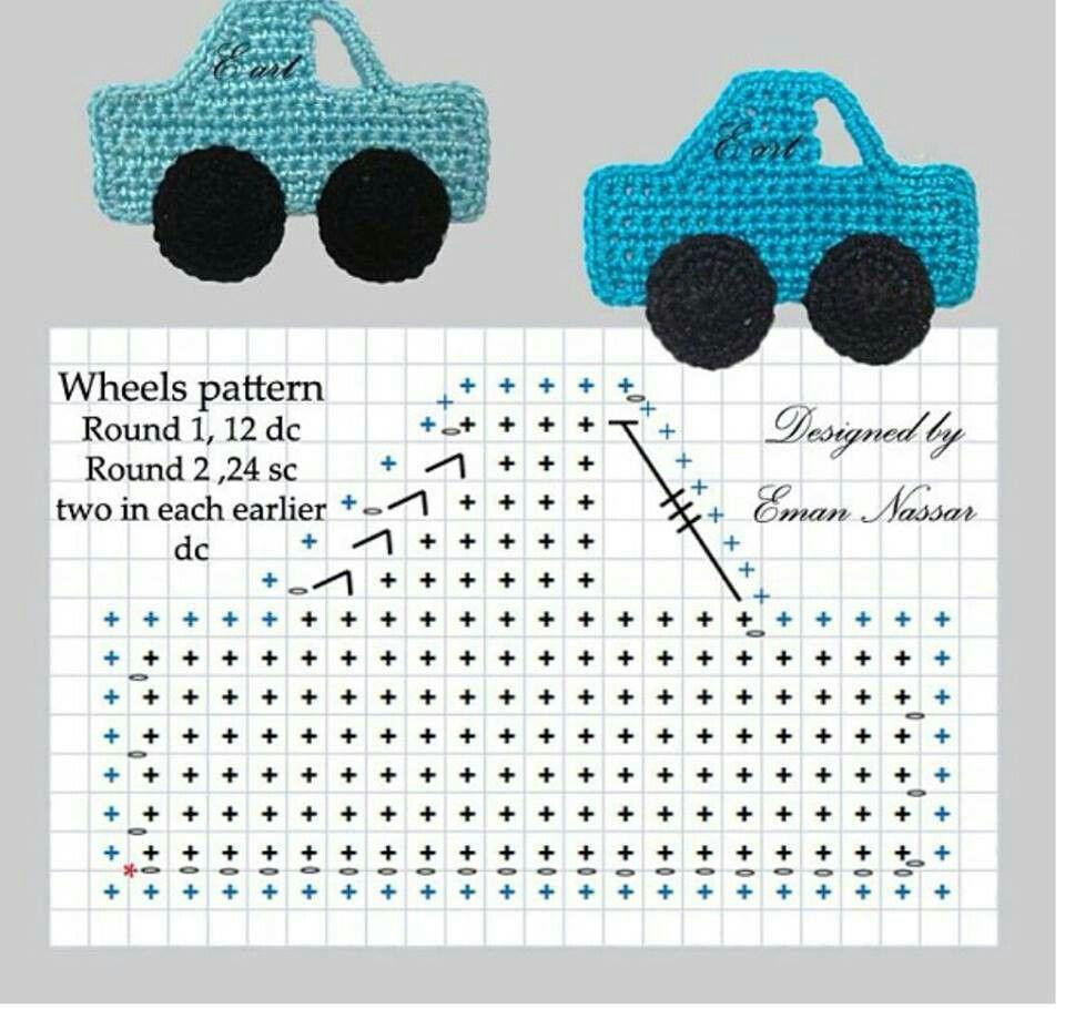 Patrón de crochet de coches | artesanías | Pinterest | Patrones de ...