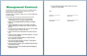 Official Management Contract Template Free My Board Pinterest