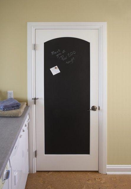 Arch Top Black Magnetic Chalkboard Door
