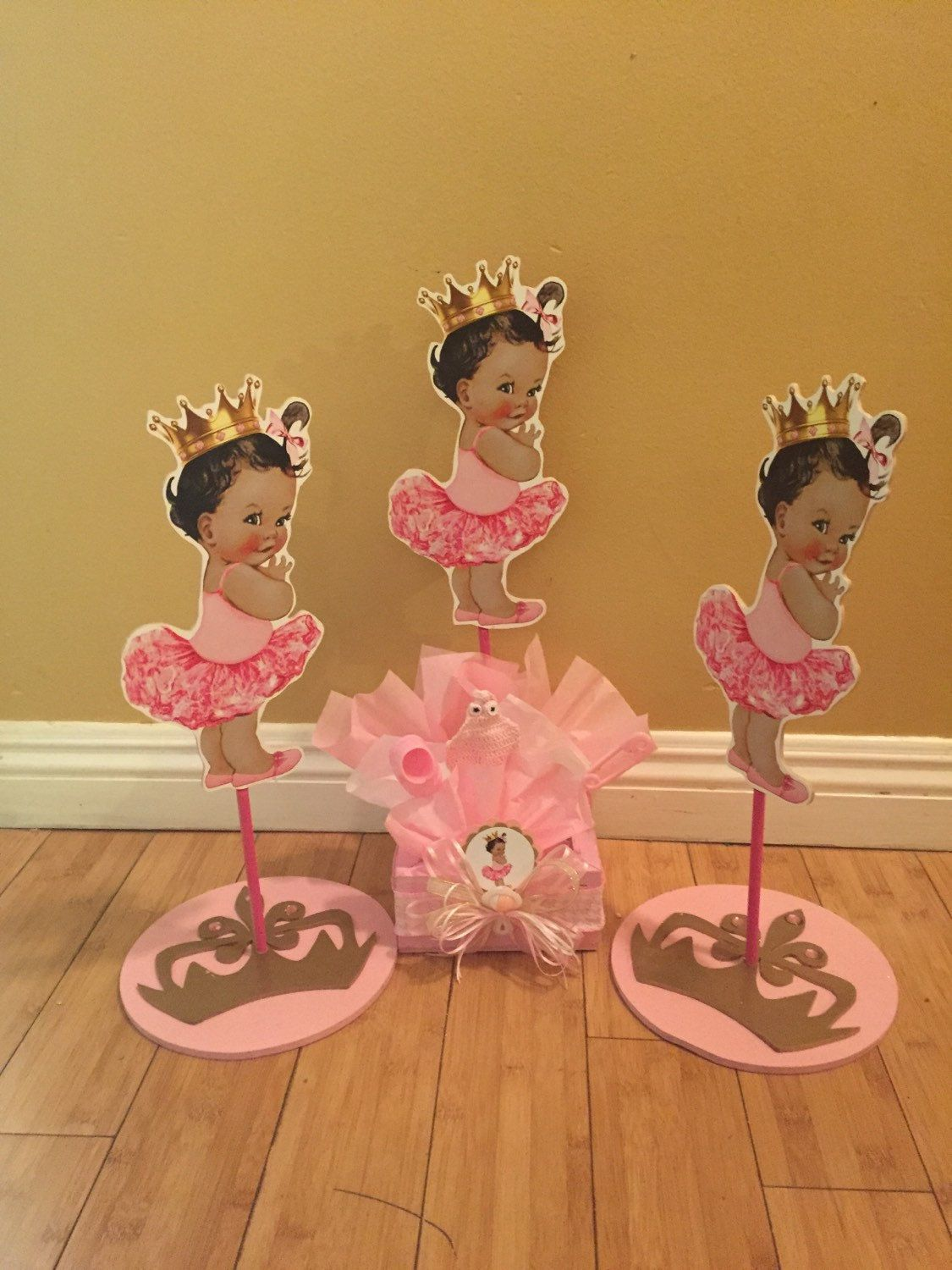 Listing Is For 1 Girls Baby Shower Box Centerpiece Or Round Crown Base Piece Available