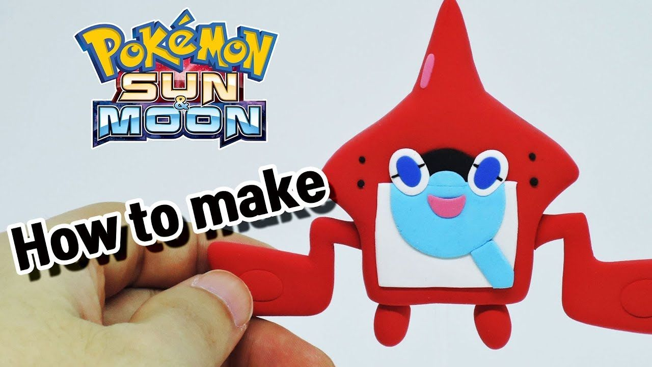 How To Sculpt Rotom Pokedex From Pokemon Sun And Moon Pokemon