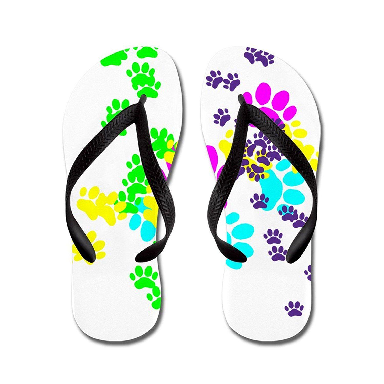 16478c9893e8f Nyou Colorful Dog Paw Prints Lightweight Unisex Comfort Rubber Flip-Flop  Sandal Slipper for Shower