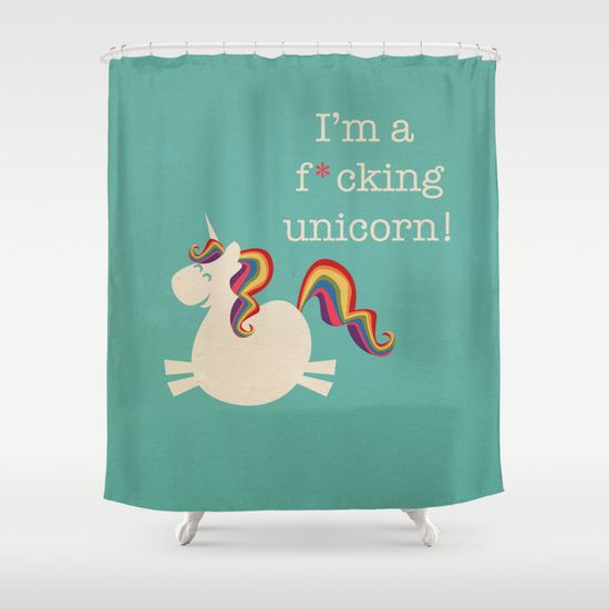 Im A Maturely Speaking Unicorn Shower Curtain