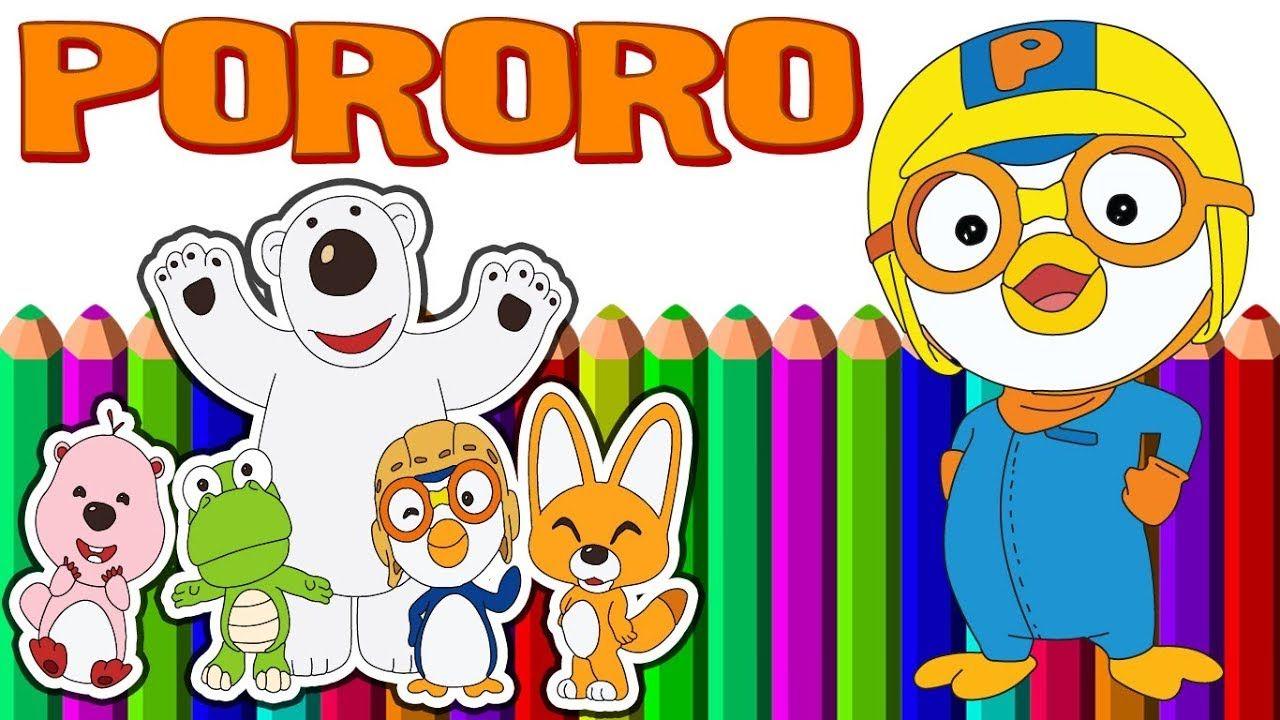 Pororo Drawing The Little Penguin Dengan Gambar Gambar