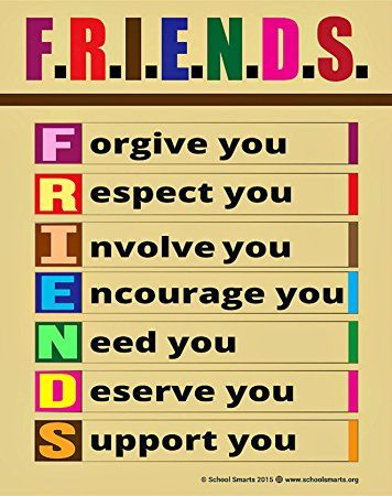 Large F.R.I.E.N.D.S Poster by School Smarts FRIENDSHIP ... Friends With Kids Poster