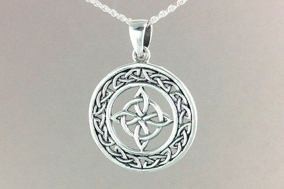 e77b5eeb9208be Celtic Star Necklace~Silver North Star Pendant~Celtic Infinity Knot ...