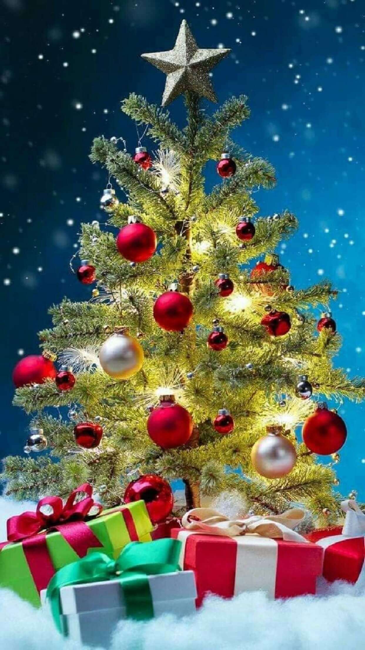 Iphone Wallpaper 02 Wallpaper Iphone Christmas Christmas Tree Wallpaper Merry Christmas Wallpaper Feliz natal wallpaper hd