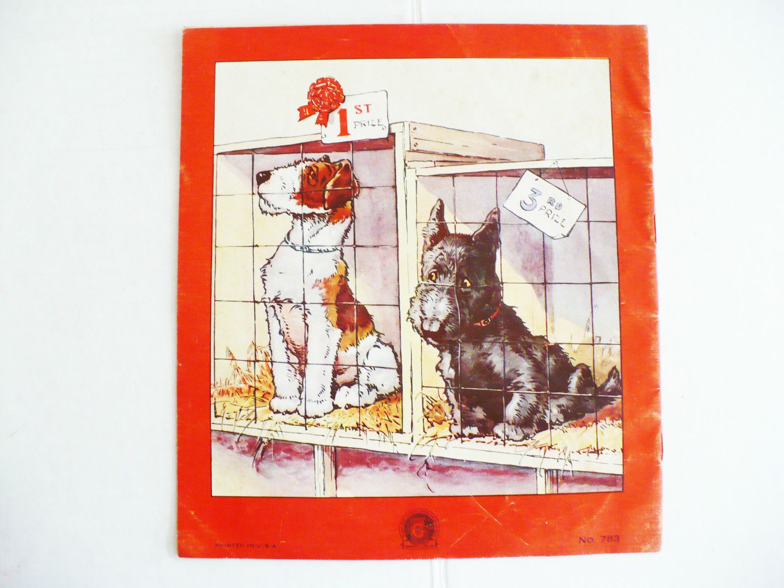 Adorable children's series book titled: Playful Puppies. Sam'l Gabriel & Sons New York. This is series #783. Features black Scotty dog and wire hair or airedale terrier dog.just so cute! Bright original colors.   eBay!