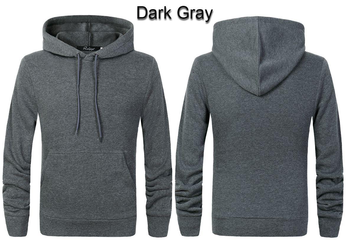 Plain Grey Hoodie Mens