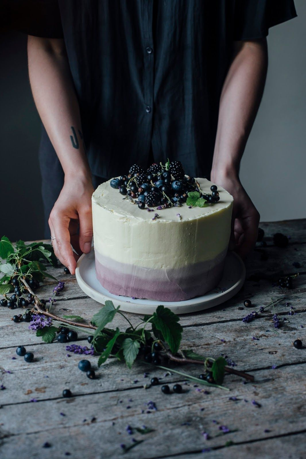 Lavender Cake topped with Berries for Eat-a-Rainbow   Lavender ...