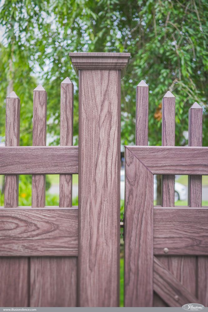 Rosewood And Black Pvc Vinyl Privacy Fence Vinyl Picket Fence