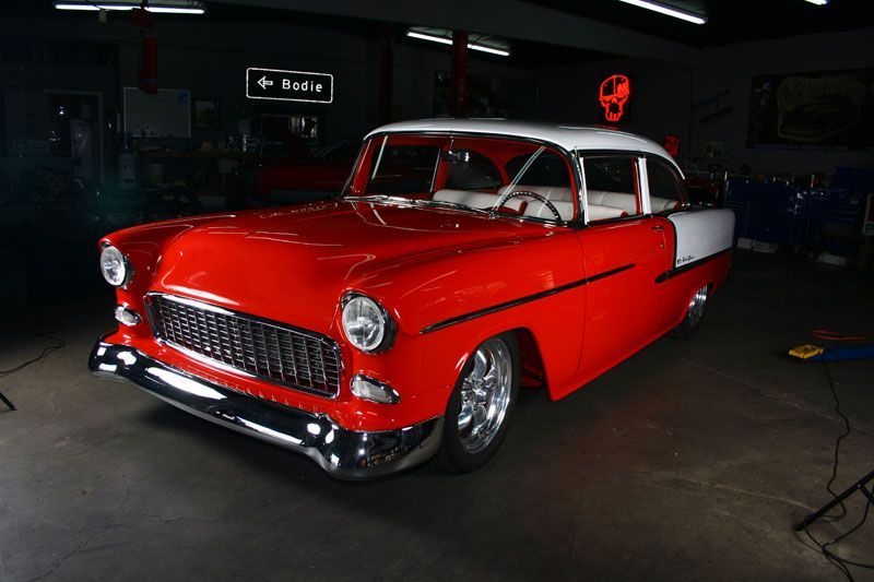 #BodieStroud has an Interesting Story behind this '55 #Chevy #BelAir ! It had briefly been a race car, it was stolen, and then it sat in a barn for 20 years before being returned to the original owner! www.BodieStroud.com 2015  http://bodiestroud.com/builds/329-1955-bel-air.html