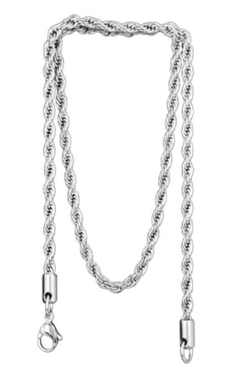 Stainless Steel Twisted Rope Necklace