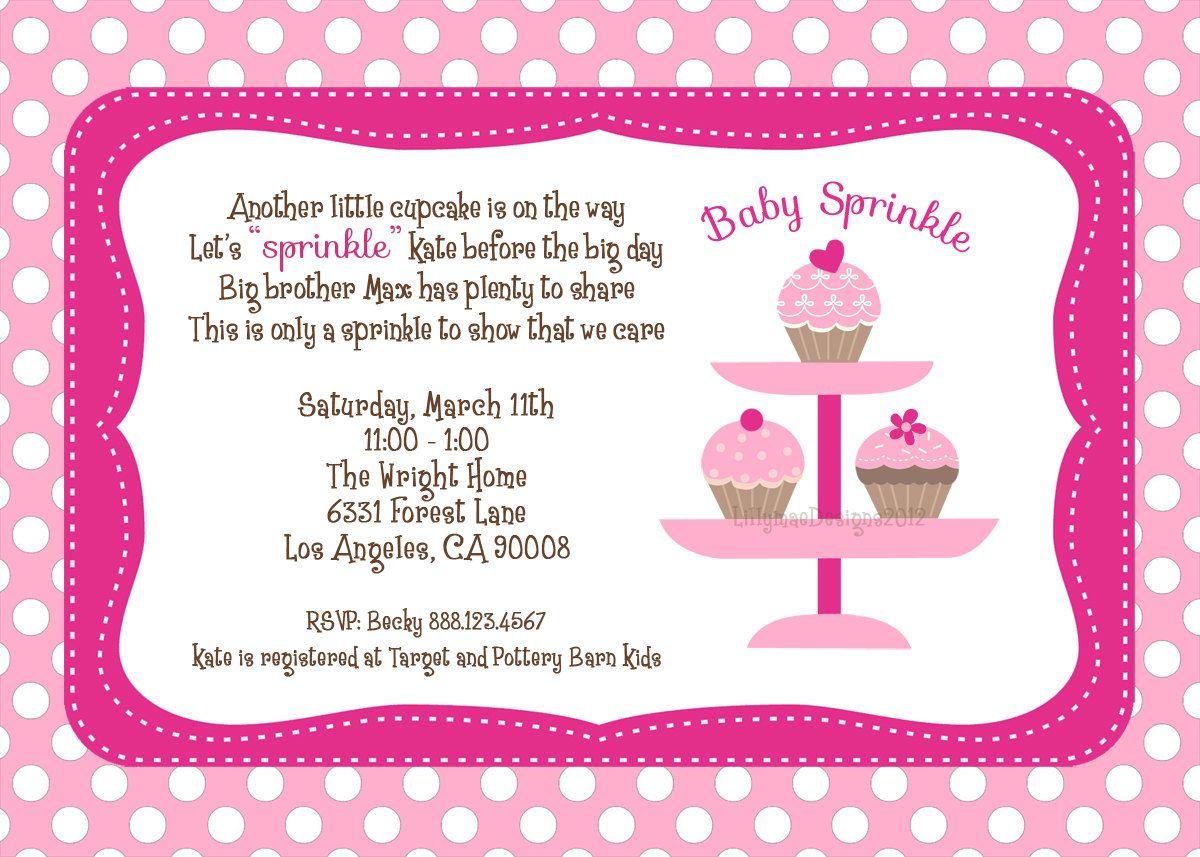 Invite Idea | Baby Sprinkle | Pinterest | Sprinkles, Baby sprinkle ...
