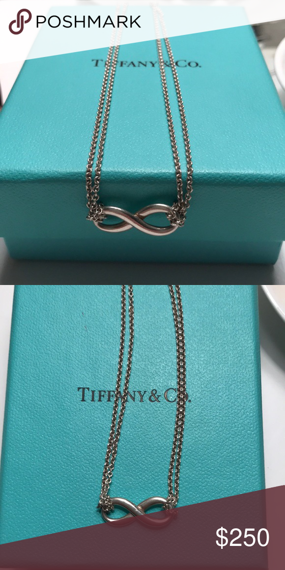 700c5348a Tiffany & Co Infinity Necklace Authentic Tiffany & Co, Chain length - 16  inches, Double Chain, Like new!! Includes Tiffany Box and gift bag Tiffany  & Co.