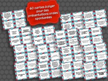 60 Cartes D Idees Oraux Spontanes Bullet Journal Teaching Presentation