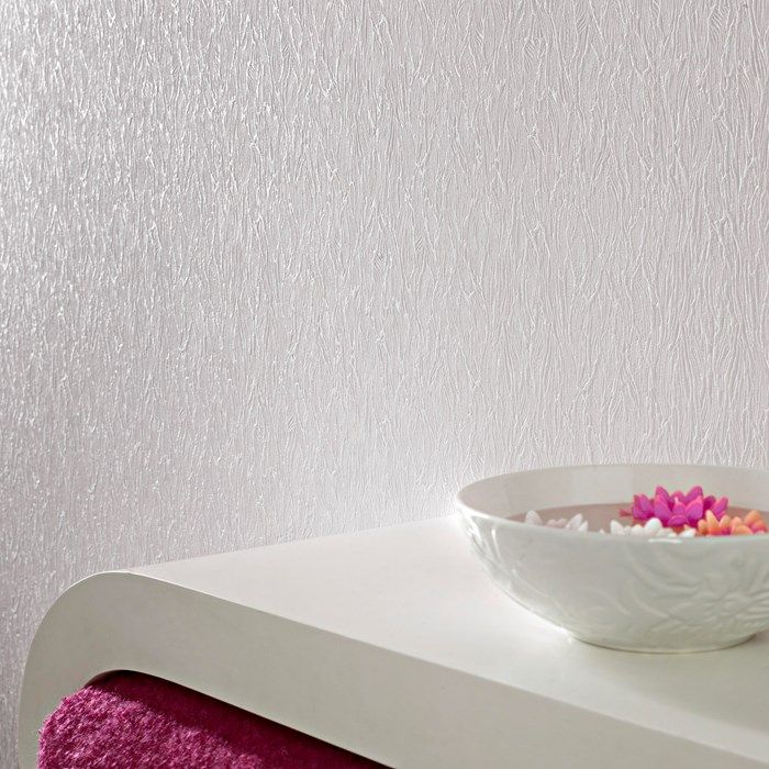 Bark textured white wallpaper paintable wall coverings by graham brown