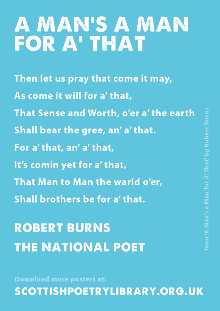 Spl Poster National Robert Burns Robert Burns Scottish