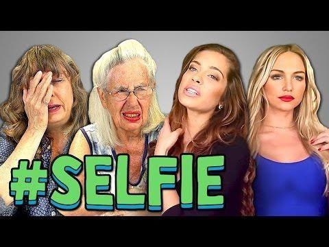 Funny Seniors Reaction To Selfie - #funny #selfie
