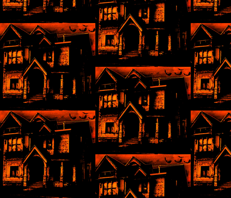 haunted house  fabric by themavenraven on Spoonflower - custom fabric