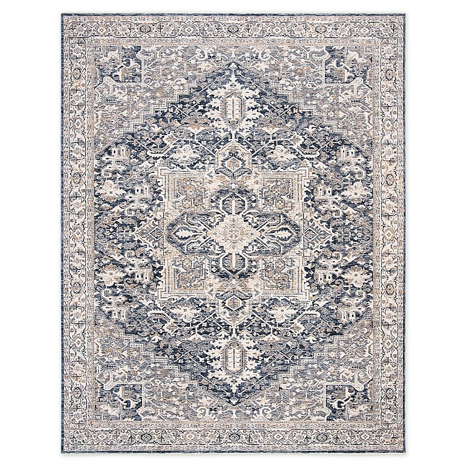 Lauren Ralph Lauren 7 9 X 10 Emeril Area Rug In Navy Polyester