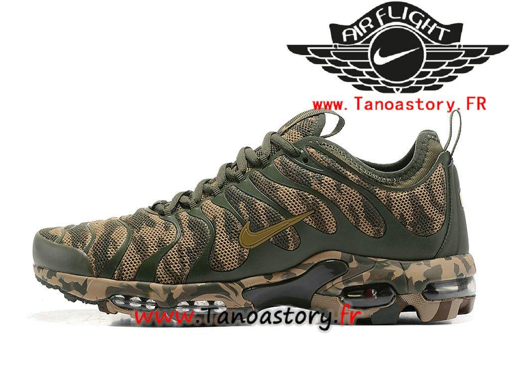 Chaussures Homme Nike Air Max Plus TN Camo ID Prix Pas Cher Brun