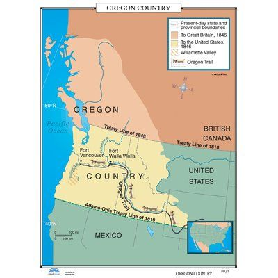 United States Map Oregon.Universal Map U S History Wall Maps Oregon Country Products