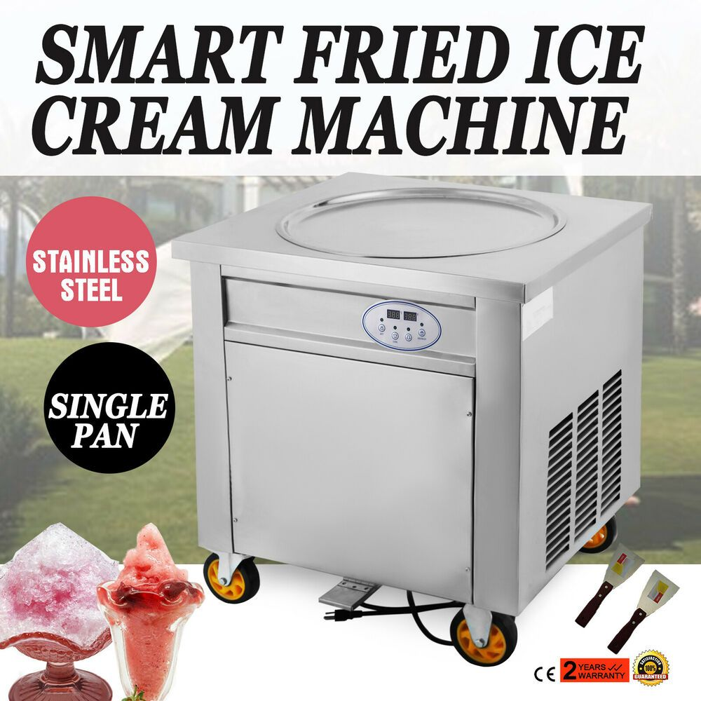 Ebay Sponsored New Fried Ice Cream Machine Single Flat Pan 12 15