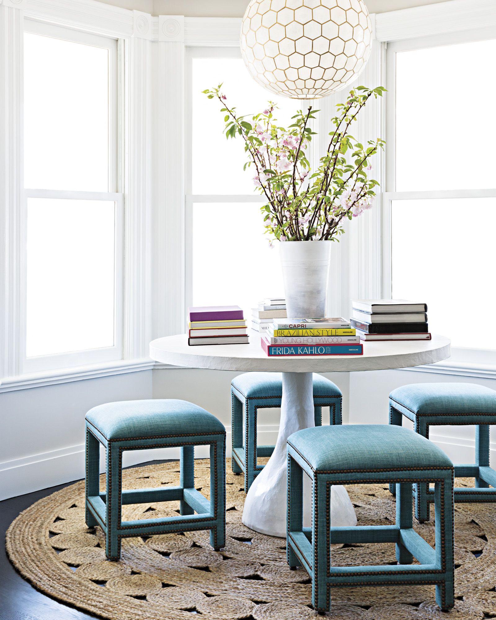 Unique Living Room Furniture Sets: Unique Dining Set With Statement Stools! #DiningRoom