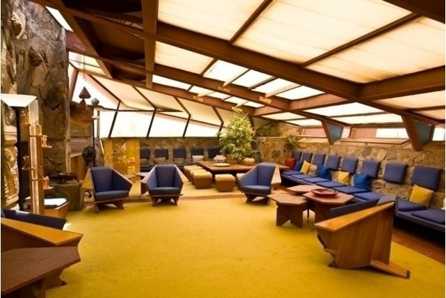 taliesin west interior view frank lloyd wright | flw | pinterest
