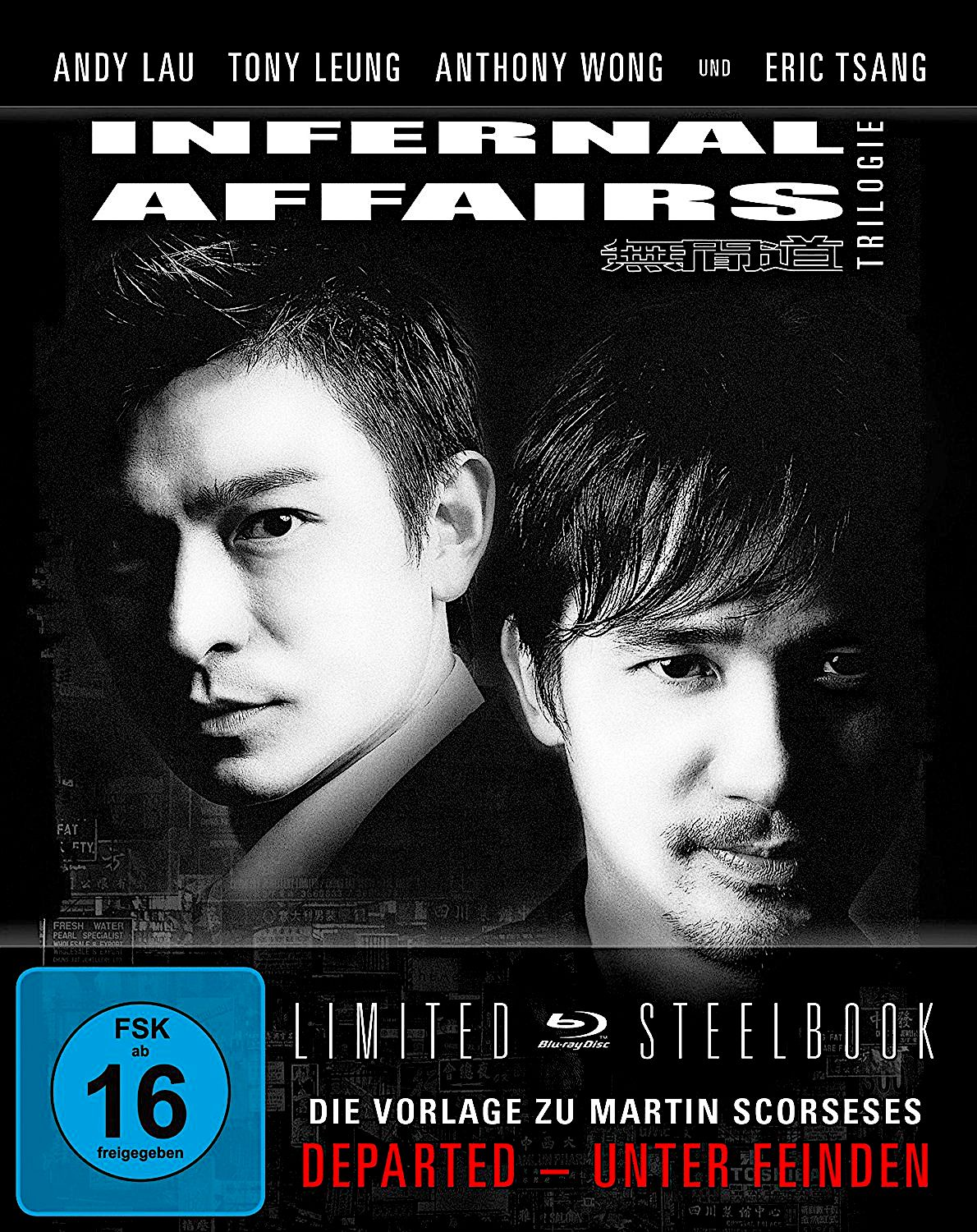 INFERNAL AFFAIRS TRILOGY LIMITED EDTION BLU-RAY STEELBOOK GERMANY ...