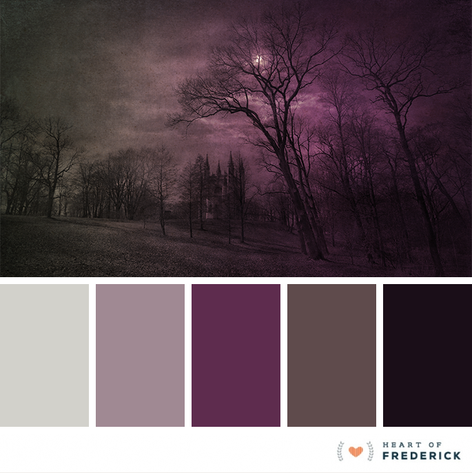 color palette spooky halloween inspired hues from
