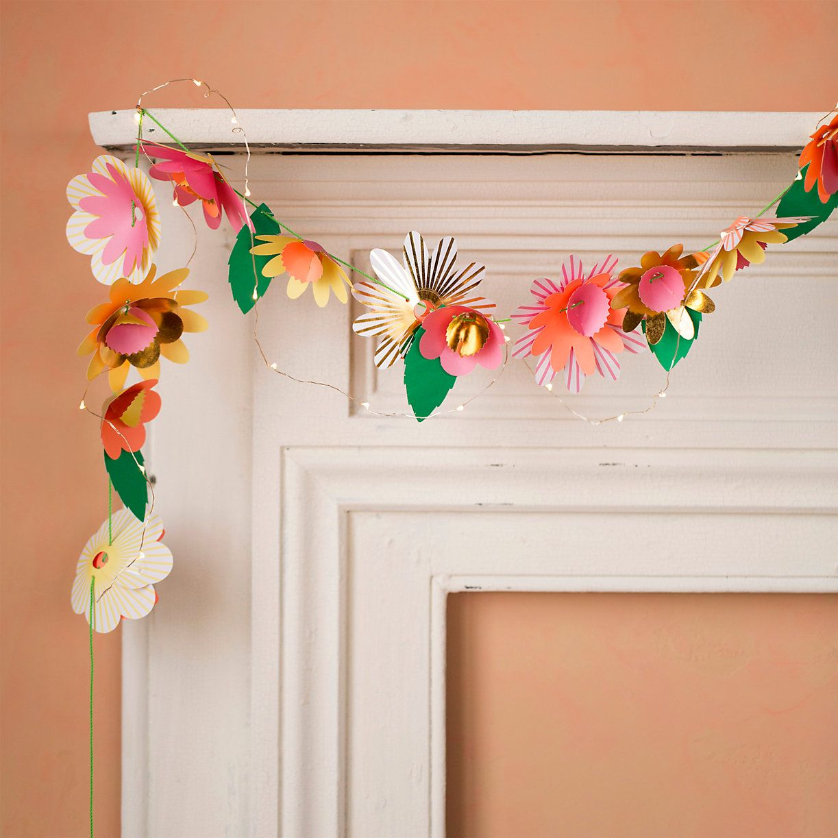 Paper flowers garland kit garlands simple diy and craft paper flowers garland kit mightylinksfo Choice Image