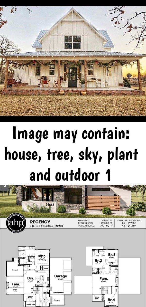 Image may contain house tree sky plant and outdoor 1 Image may contain house tree sky plant and outdoor 15 Story Modern House Plan  Regency Modern House wrap around porch...