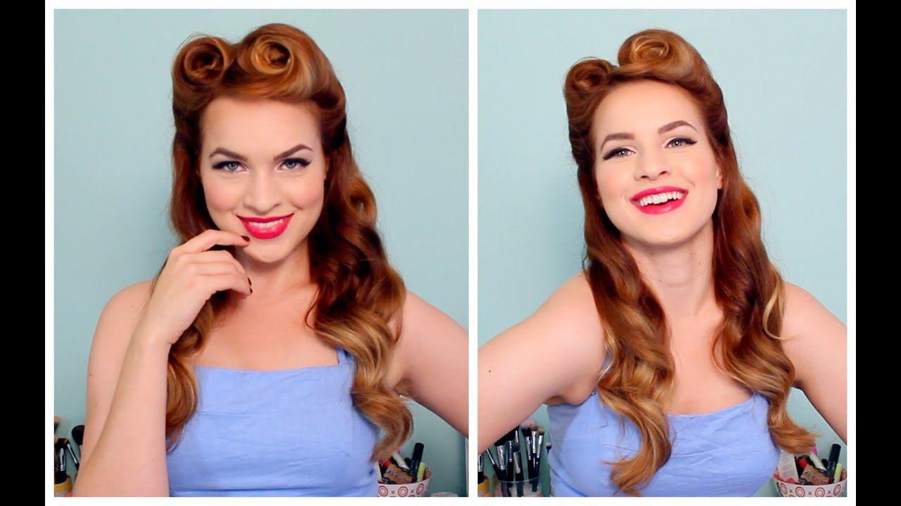 1940s Hairstyles For Long Hair Hair 1940s Hairstyles Rockabilly Hair Retro Hairstyles