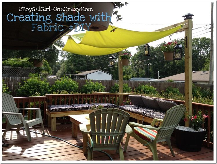 Superior Creating Shade With Fabric #DIY Project  Create Simple Shade With An  #outdoorDIY Fabric Shade Via @Melanie Bauer Roberts #cbias
